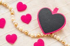 Brides en bois de coeur rose vide Photo libre de droits