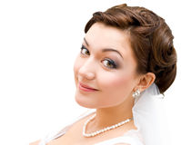 Brides face, closeup Stock Images