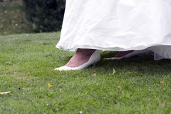 Brides feet Stock Photos