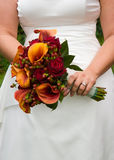 Brides Flowers. A bride's bouquet of pretty flowers Stock Image