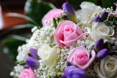 Brides flowers closeup Royalty Free Stock Photography