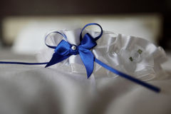 Brides garter Stock Photo