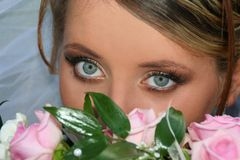 Brides glance Stock Images