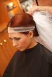 Brides hair Royalty Free Stock Photography
