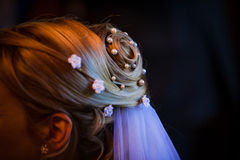 Brides hair Stock Photography