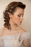 Brides hairstyle Royalty Free Stock Image