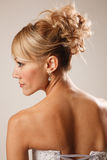 Brides hairstyle Royalty Free Stock Images