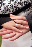 Brides hand Royalty Free Stock Photos