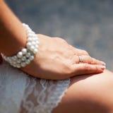Brides hand Royalty Free Stock Photo