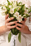 Brides hands Royalty Free Stock Photography