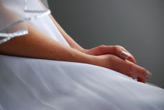 Brides hands Stock Photography