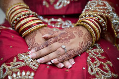 Brides hands Royalty Free Stock Photos