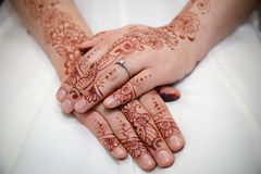 Brides hands Royalty Free Stock Photo