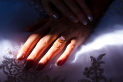 The brides hands Royalty Free Stock Photo