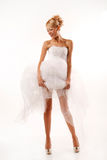 Brides long legs Royalty Free Stock Photo