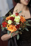 Brides maid flowers stock photography