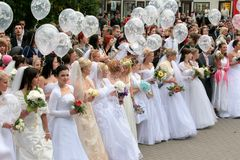 Brides parade 2010 Stock Image