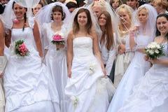Brides parade 2010 stock image