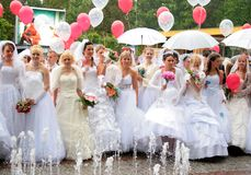 Brides parade 2010 royalty free stock image