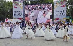 Brides Parade - beauty event Stock Image