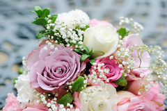 Brides pink bouquet Stock Photo
