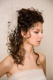 Brides profile Stock Image