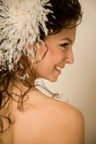 Brides profile close up Stock Photo