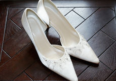 Brides shoe details Stock Photo