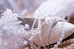Brides shoes Stock Images