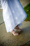 Brides shoes Royalty Free Stock Images