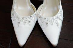 Brides shoes closeup Stock Image