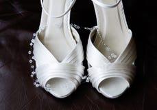 Brides shoes closeup Royalty Free Stock Image