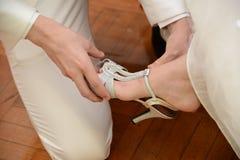 Brides Shoes Stock Photos