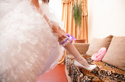 Brides stockings Royalty Free Stock Photos