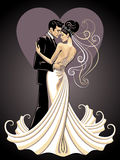 Brides. Stylized image of bride and fiance Stock Photography