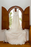 Brides wedding dress Stock Images