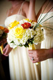 Brides wedding flowers Stock Photos