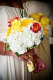 Brides wedding flowers Stock Image