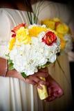 Brides wedding flowers Stock Image