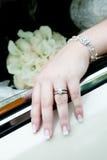 Brides wedding ring Royalty Free Stock Image
