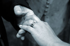 Brides Wedding Ring Hand Stock Images