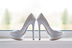 Brides wedding shoes Stock Image