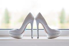 Brides wedding shoes Stock Image