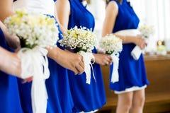 Bridesmaid с букетом Стоковая Фотография RF