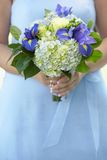 Bridesmaid with bouquet Stock Photos
