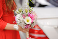 Bridesmaid with Bouquet Royalty Free Stock Photography