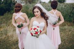 Bridesmaid bride HD Royalty Free Stock Photography