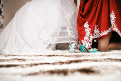 Bridesmaid and bride Royalty Free Stock Photos