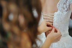 Bridesmaid dress bride dresses Stock Photo