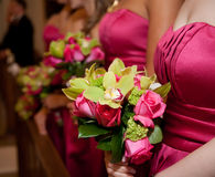 Bridesmaid flowers Stock Image